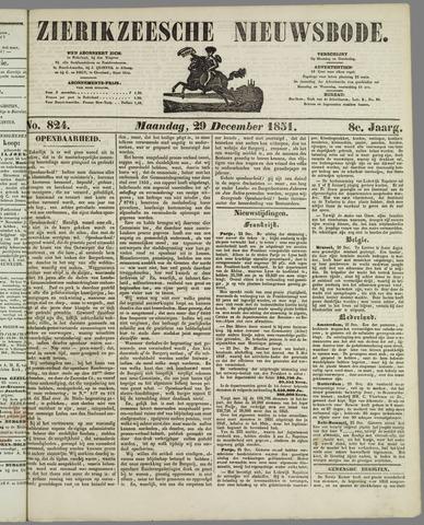 Zierikzeesche Nieuwsbode 1851-12-29