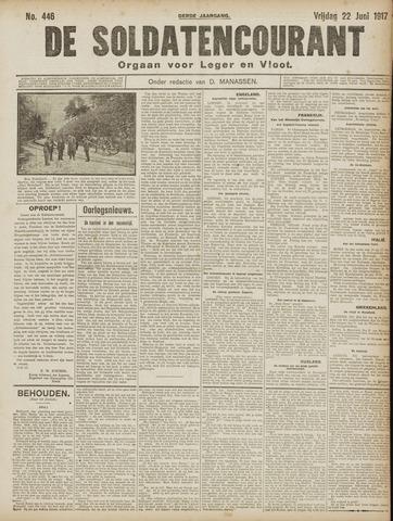 De Soldatencourant. Orgaan voor Leger en Vloot 1917-06-22