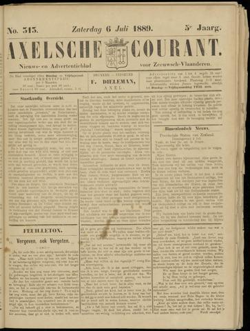 Axelsche Courant 1889-07-06