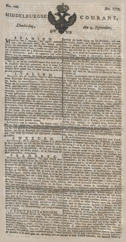 Middelburgsche Courant 1777-09-04