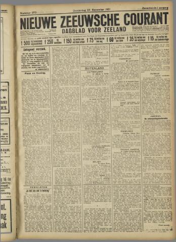 Nieuwe Zeeuwsche Courant 1921-11-24