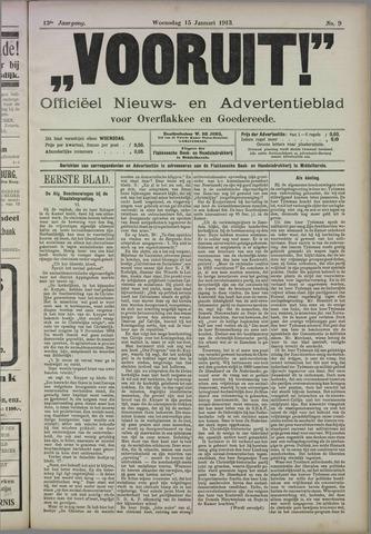 """""""Vooruit!""""Officieel Nieuws- en Advertentieblad voor Overflakkee en Goedereede 1913-01-15"""