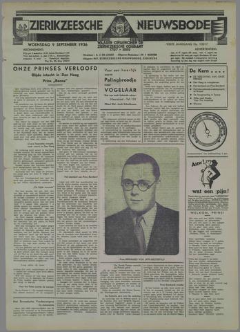 Zierikzeesche Nieuwsbode 1936-09-09