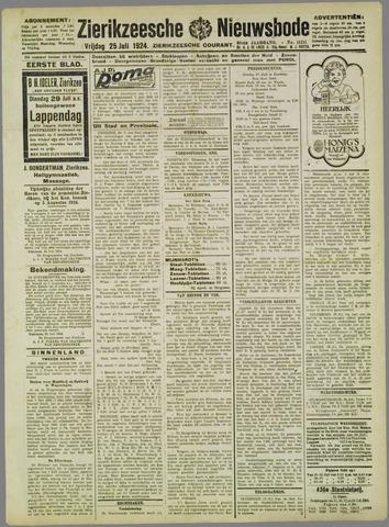 Zierikzeesche Nieuwsbode 1924-07-25