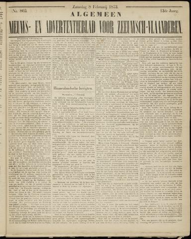Ter Neuzensche Courant. Algemeen Nieuws- en Advertentieblad voor Zeeuwsch-Vlaanderen / Neuzensche Courant ... (idem) / (Algemeen) nieuws en advertentieblad voor Zeeuwsch-Vlaanderen 1873-02-08