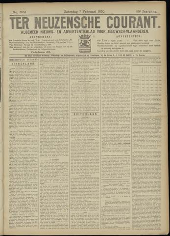 Ter Neuzensche Courant. Algemeen Nieuws- en Advertentieblad voor Zeeuwsch-Vlaanderen / Neuzensche Courant ... (idem) / (Algemeen) nieuws en advertentieblad voor Zeeuwsch-Vlaanderen 1920-02-07