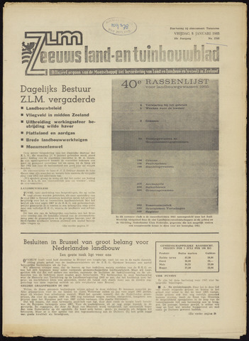 Zeeuwsch landbouwblad ... ZLM land- en tuinbouwblad 1965-01-08
