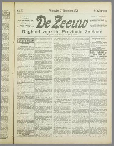De Zeeuw. Christelijk-historisch nieuwsblad voor Zeeland 1929-11-27