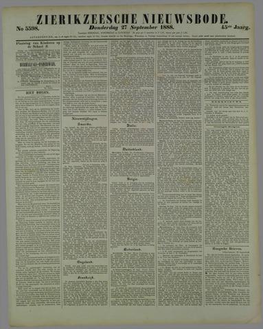 Zierikzeesche Nieuwsbode 1888-09-27