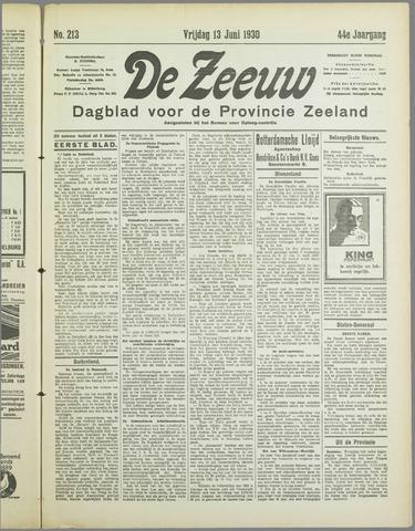 De Zeeuw. Christelijk-historisch nieuwsblad voor Zeeland 1930-06-13