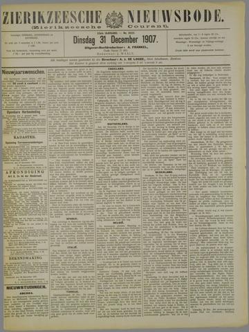Zierikzeesche Nieuwsbode 1907-12-31