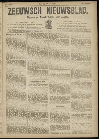 Ter Neuzensch Volksblad. Vrijzinnig nieuws- en advertentieblad voor Zeeuwsch- Vlaanderen / Zeeuwsch Nieuwsblad. Nieuws- en advertentieblad voor Zeeland 1918-07-20
