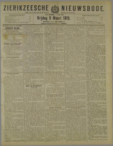 Zierikzeesche Nieuwsbode 1915-03-05