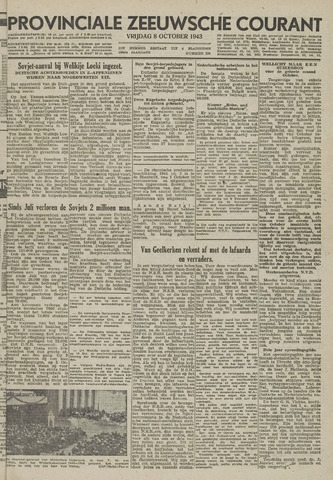 Provinciale Zeeuwse Courant 1943-10-08