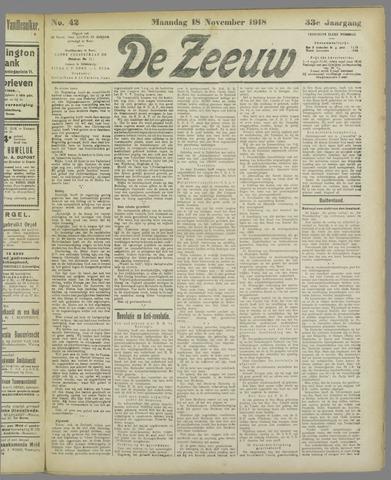 De Zeeuw. Christelijk-historisch nieuwsblad voor Zeeland 1918-11-18