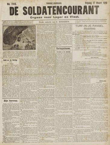 De Soldatencourant. Orgaan voor Leger en Vloot 1916-03-17