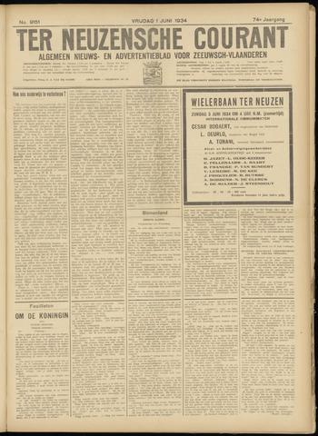 Ter Neuzensche Courant. Algemeen Nieuws- en Advertentieblad voor Zeeuwsch-Vlaanderen / Neuzensche Courant ... (idem) / (Algemeen) nieuws en advertentieblad voor Zeeuwsch-Vlaanderen 1934-06-01