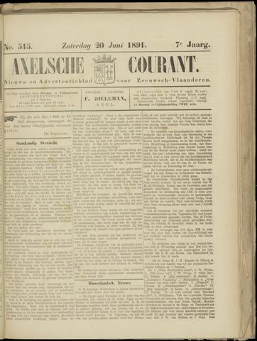 Axelsche Courant 1891-06-20