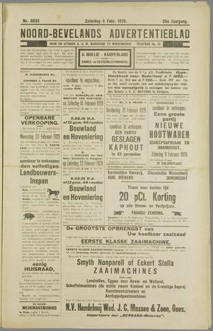 Noord-Bevelands Nieuws- en advertentieblad 1929-02-09