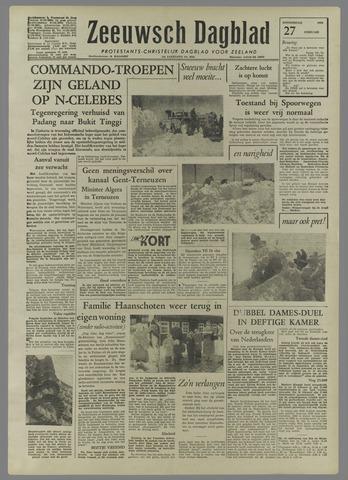 Zeeuwsch Dagblad 1958-02-27