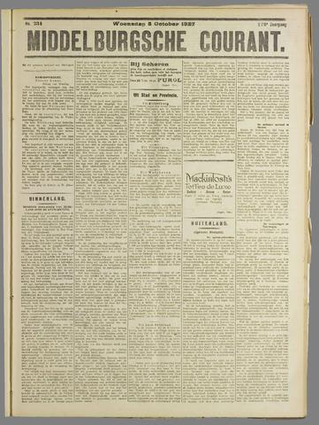 Middelburgsche Courant 1927-10-05