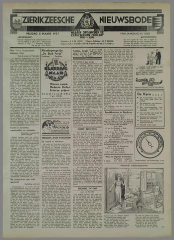 Zierikzeesche Nieuwsbode 1937-03-05