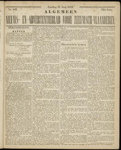 Ter Neuzensche Courant. Algemeen Nieuws- en Advertentieblad voor Zeeuwsch-Vlaanderen / Neuzensche Courant ... (idem) / (Algemeen) nieuws en advertentieblad voor Zeeuwsch-Vlaanderen 1873-06-21