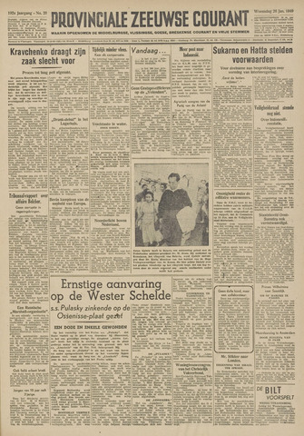 Provinciale Zeeuwse Courant 1949-01-26