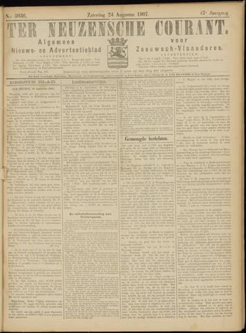 Ter Neuzensche Courant. Algemeen Nieuws- en Advertentieblad voor Zeeuwsch-Vlaanderen / Neuzensche Courant ... (idem) / (Algemeen) nieuws en advertentieblad voor Zeeuwsch-Vlaanderen 1907-08-24
