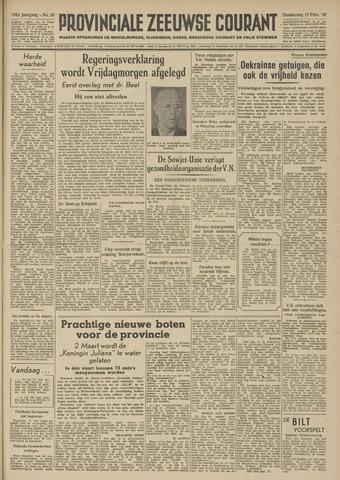 Provinciale Zeeuwse Courant 1949-02-17