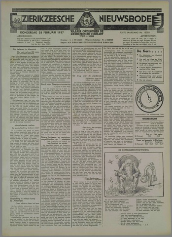 Zierikzeesche Nieuwsbode 1937-02-25