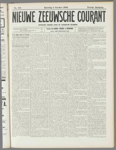 Nieuwe Zeeuwsche Courant 1906-10-06