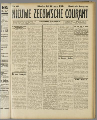 Nieuwe Zeeuwsche Courant 1917-10-30