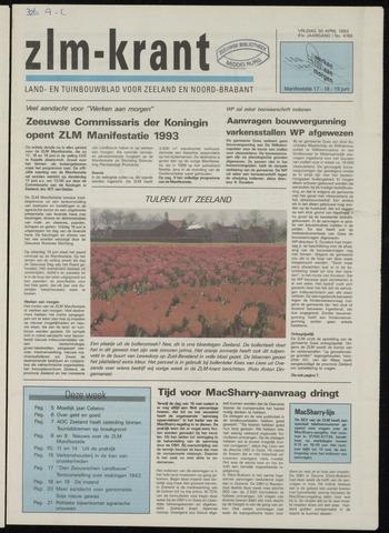 Zeeuwsch landbouwblad ... ZLM land- en tuinbouwblad 1993-04-30