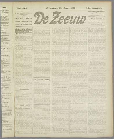 De Zeeuw. Christelijk-historisch nieuwsblad voor Zeeland 1916-06-28