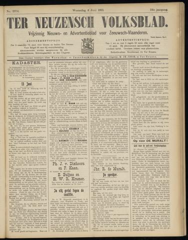 Ter Neuzensch Volksblad. Vrijzinnig nieuws- en advertentieblad voor Zeeuwsch- Vlaanderen / Zeeuwsch Nieuwsblad. Nieuws- en advertentieblad voor Zeeland 1913-06-04