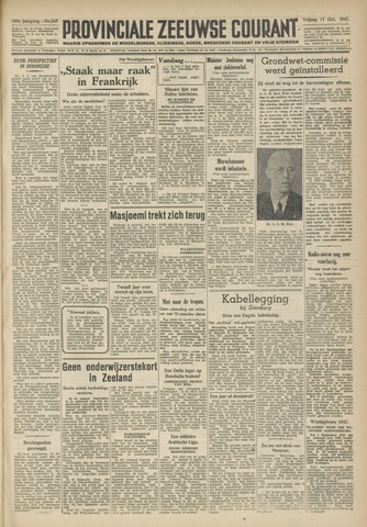 Provinciale Zeeuwse Courant 1947-10-17