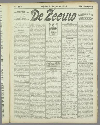 De Zeeuw. Christelijk-historisch nieuwsblad voor Zeeland 1924-08-08