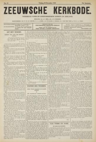 Zeeuwsche kerkbode, weekblad gewijd aan de belangen der gereformeerde kerken/ Zeeuwsch kerkblad 1940-12-20
