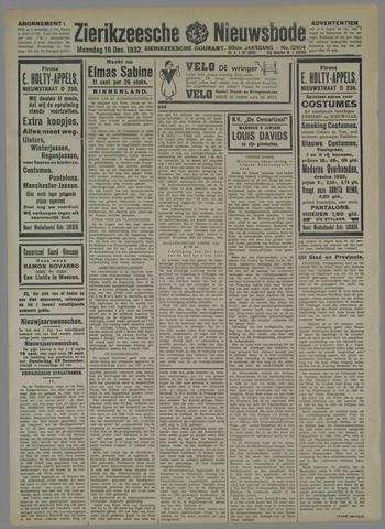 Zierikzeesche Nieuwsbode 1932-12-19