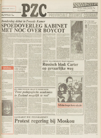 Provinciale Zeeuwse Courant 1980-01-25