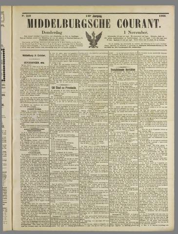 Middelburgsche Courant 1906-11-01