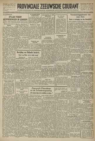 Provinciale Zeeuwse Courant 1946-04-25