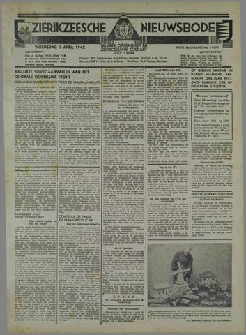 Zierikzeesche Nieuwsbode 1942-04-01