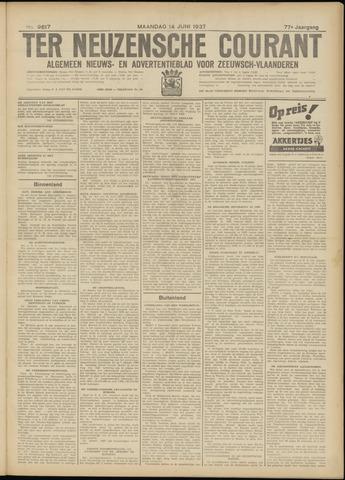 Ter Neuzensche Courant. Algemeen Nieuws- en Advertentieblad voor Zeeuwsch-Vlaanderen / Neuzensche Courant ... (idem) / (Algemeen) nieuws en advertentieblad voor Zeeuwsch-Vlaanderen 1937-06-14