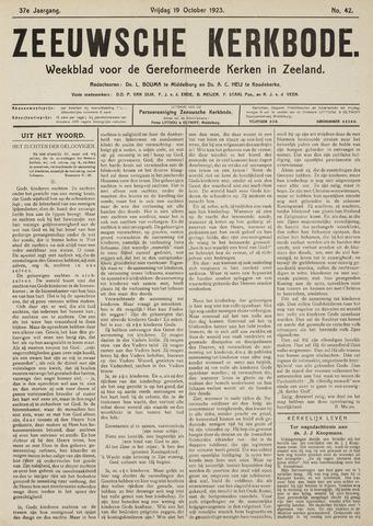 Zeeuwsche kerkbode, weekblad gewijd aan de belangen der gereformeerde kerken/ Zeeuwsch kerkblad 1923-10-19