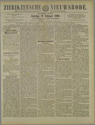 Zierikzeesche Nieuwsbode 1906-02-17