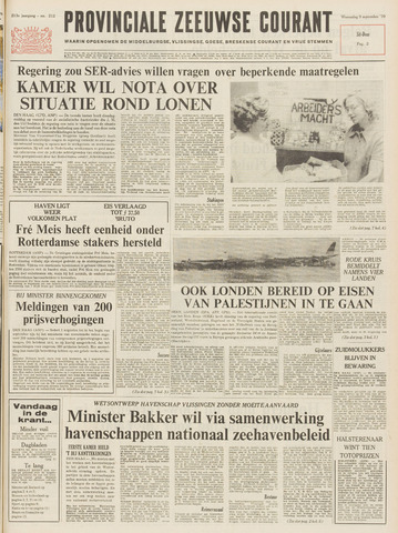 Provinciale Zeeuwse Courant 1970-09-09