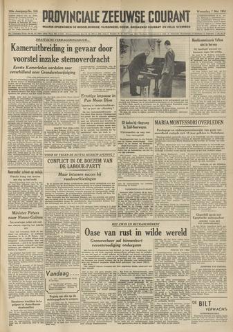 Provinciale Zeeuwse Courant 1952-05-07