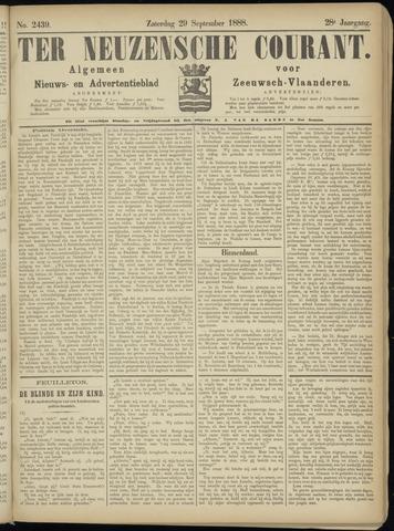 Ter Neuzensche Courant. Algemeen Nieuws- en Advertentieblad voor Zeeuwsch-Vlaanderen / Neuzensche Courant ... (idem) / (Algemeen) nieuws en advertentieblad voor Zeeuwsch-Vlaanderen 1888-09-29